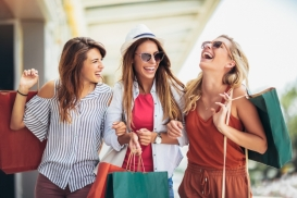 women shopping in Harper's Preserve article for tax-free weekend