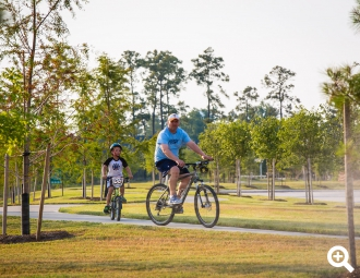 Bike trails are available for active residents at Harper's Preserve